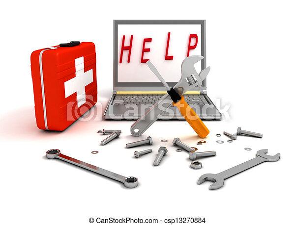 diagnostics and repair of computer  - csp13270884