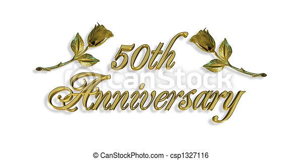 50th Anniversary Invitation Graphic - csp1327116