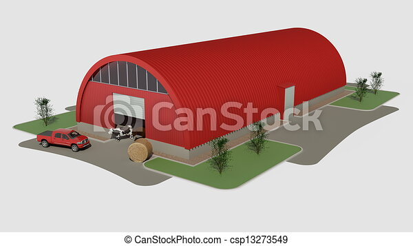 dessin de grand rouges hangar big rouges aluminium garage csp13273549 recherchez. Black Bedroom Furniture Sets. Home Design Ideas