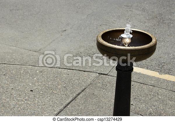 Portland Drinking Water Fountain - csp13274429