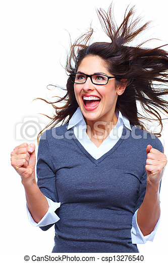 Happy Business woman. Success. - csp13276540