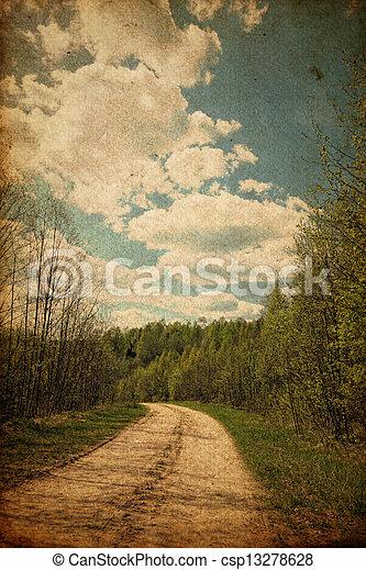 Grunge rural road - csp13278628