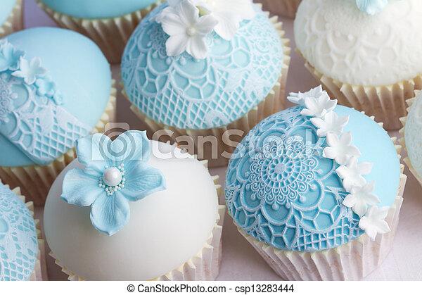 Wedding cupcakes - csp13283444