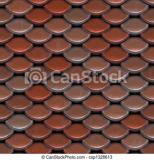Red Roof Tiles - csp1328613