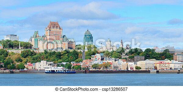 Quebec City skyline - csp13286507