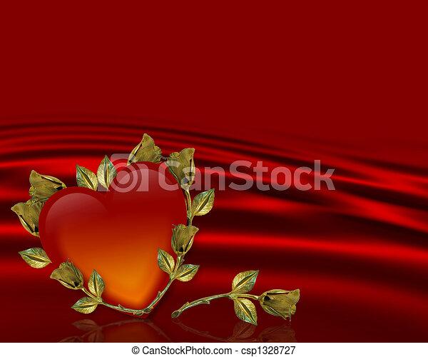 Valentines Day background Card - csp1328727