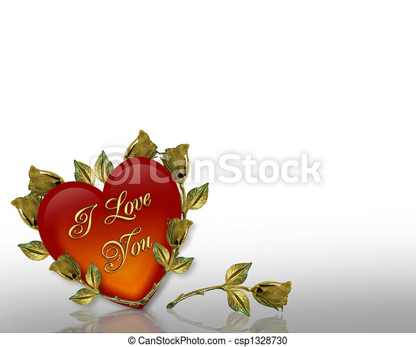 Valentines Day background Hearts - csp1328730