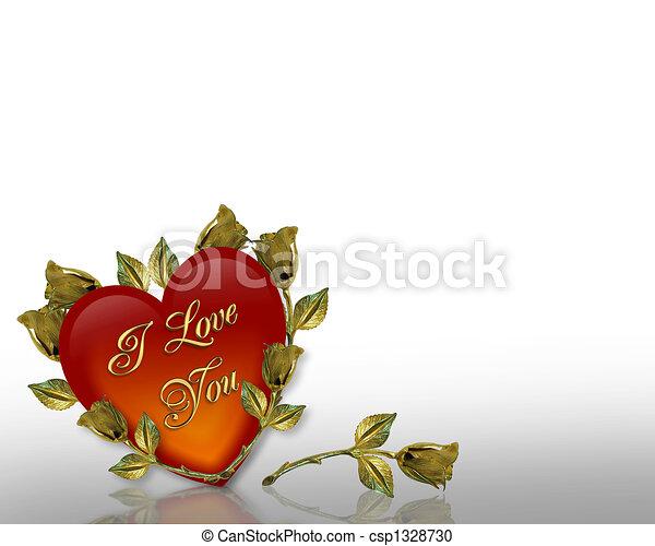 Valentines Day background Hearts - csp1328730