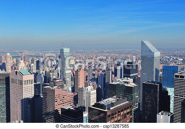 New York City skyscrapers - csp13287585
