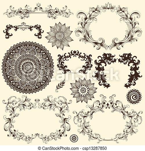 Vector set of design elements - csp13287850