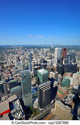 Toronto aerial - csp13287888