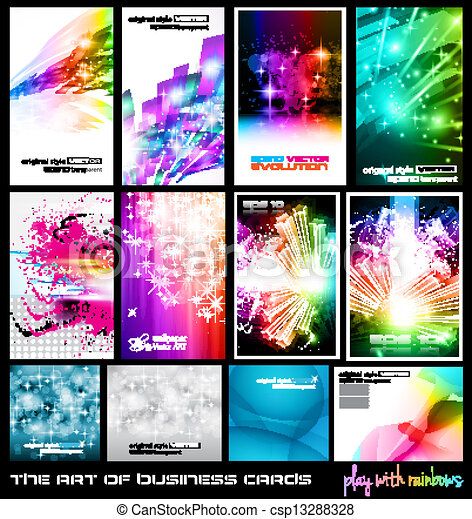 The art of business card Collection: play with rainbows. - csp13288328