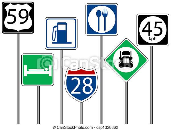 Highway Signs - csp1328862
