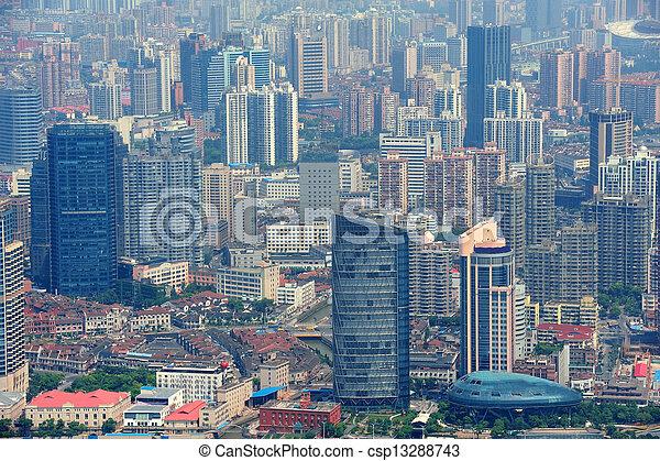 Shanghai aerial view - csp13288743