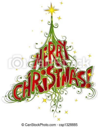 Christmas Tree Design - csp1328885