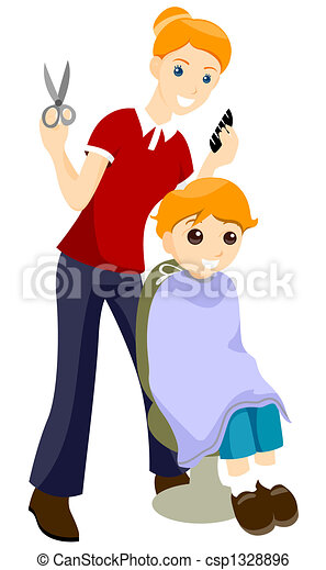 Stock Illustration Of Haircut Getting Haircut Csp1328896