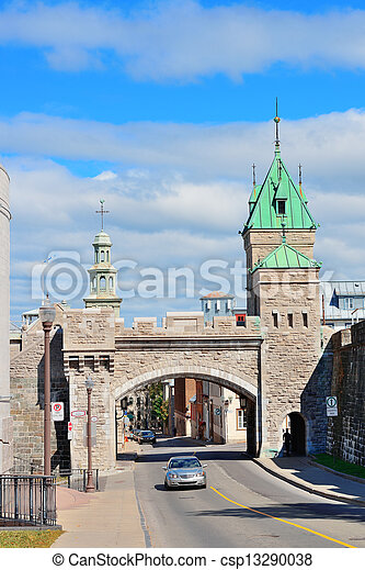 Porte Dauphine in Quebec City - csp13290038