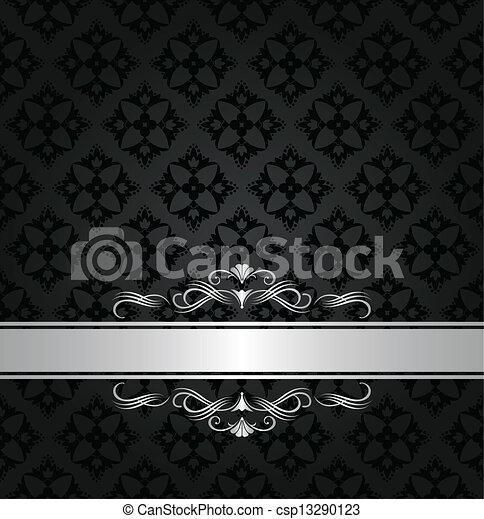 Ilustraciones de vectores de negro papel pintado bandera - Papel pintado blanco y plata ...