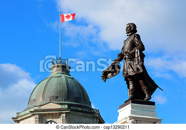 Statue in Quebec City - csp13290211