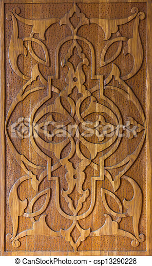 Clip Art Of Art Of Wood Carving Traditional Art Of Wood