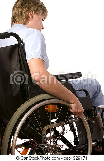 woman in a wheelchair - csp1329171