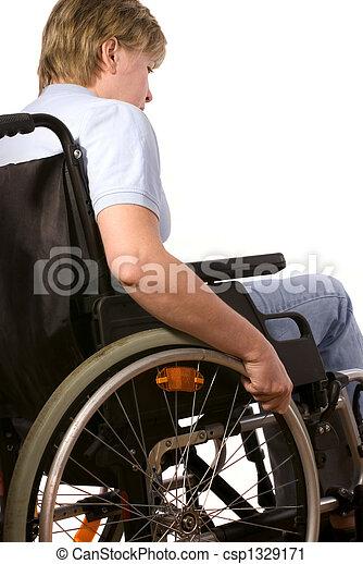 woman in a wheelchair - csp1329171