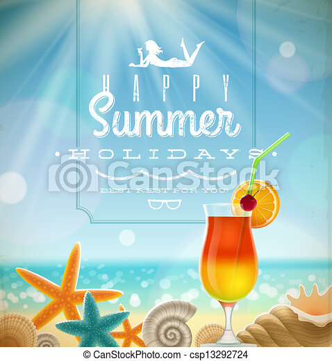 Summer holidays illustration - csp13292724