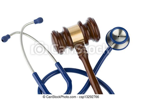 gavel and stethoscope - csp13292766