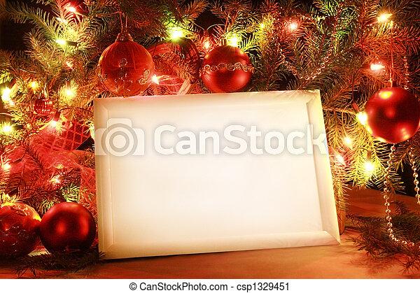 luces, marco, navidad - csp1329451