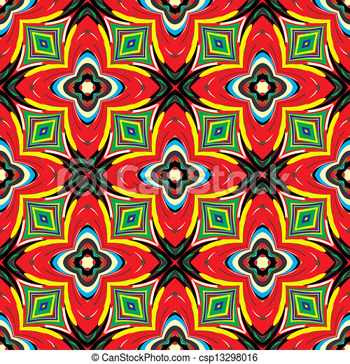 Vector Clip Art Of African Textile Design Modern And