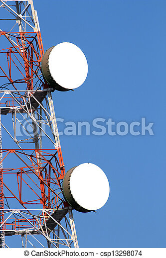 wireless communications tower - csp13298074