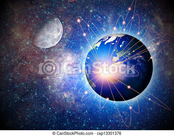 Space transportation and technologies in the future, abstract backgrounds - csp13301376