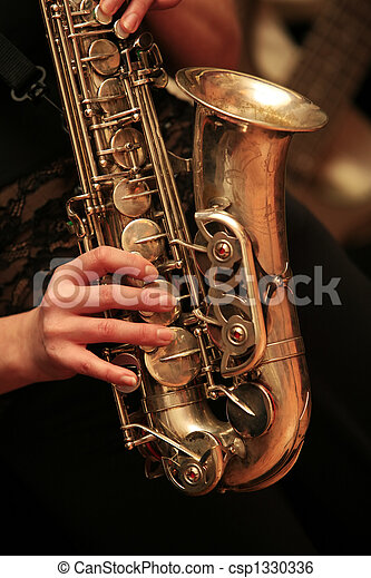 saxophone player - csp1330336