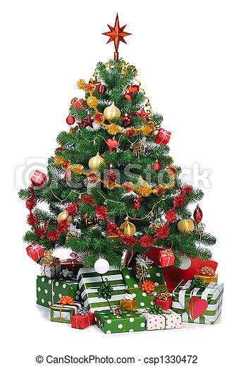 árbol abeto, navidad - csp1330472