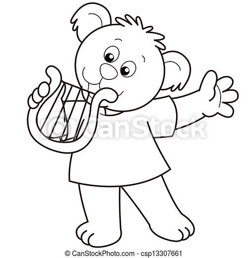 Harp - stock illustration, royalty free illustrations, stock clip art ...