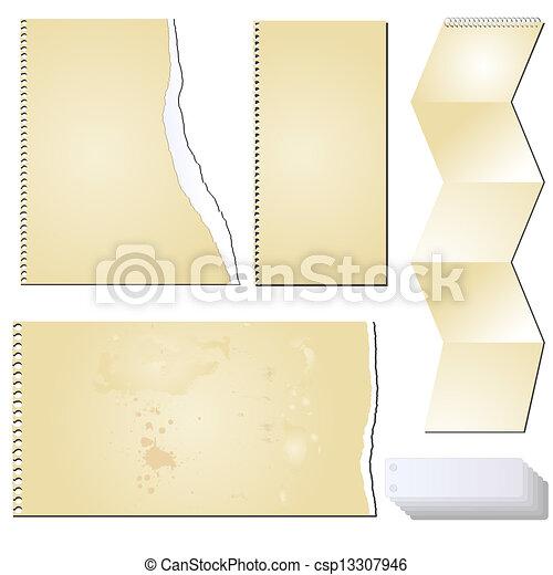 vector grunge scrapbooking tablet - csp13307946