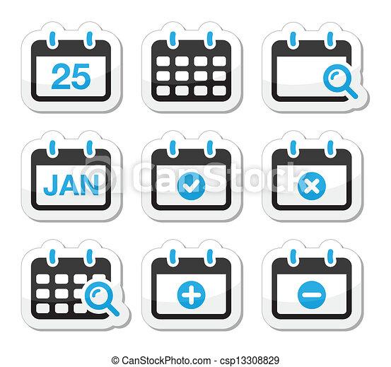 Calendar Date Vector Calendar Date Vector Icons Set