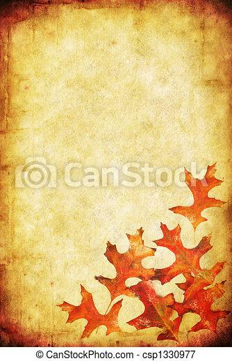 Fall Grunge Background - csp1330977
