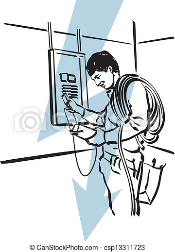 electricians at work clip art - photo #17