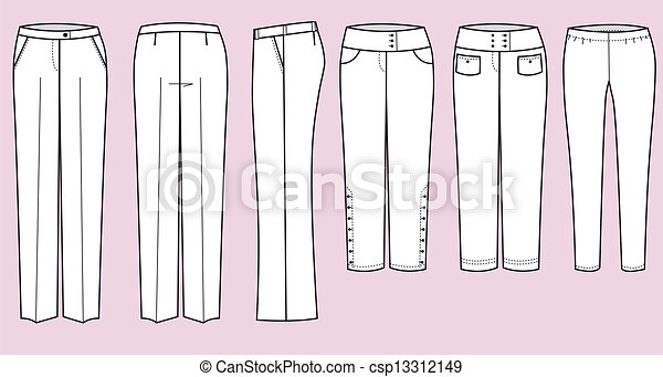 EPS vector de pantalones, mujer - vector, Moda, ropa, Fortaleza, mujer ...