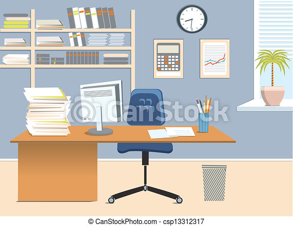 art drawing office. office room csp13312317 art drawing