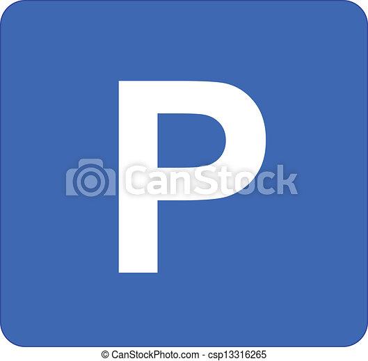 Parking Sign - csp13316265