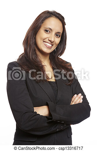 Young asian adult business woman smiling  - csp13316717