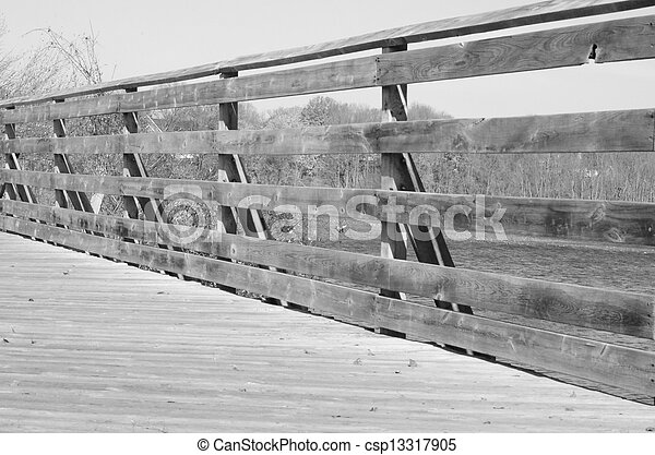 Black and White Bridges Railing 2 - csp13317905