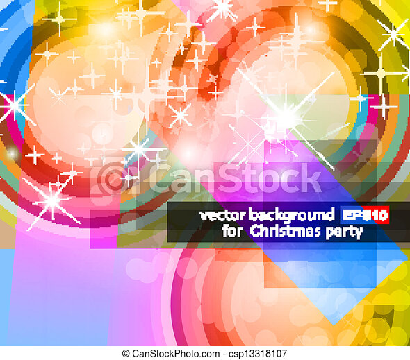 Abstract Background with Rainbow Gradient - csp13318107