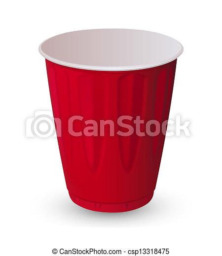 Vectors Illustration of Red cup - Red plastic cup csp13318475 ...
