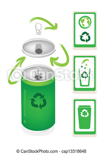Eps vector de reciclar el s mbolo botede basura aluminio - Simbolo de aluminio ...