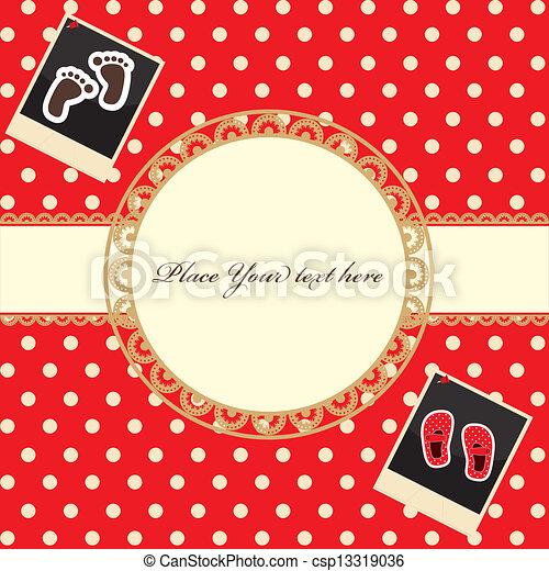 baby shower invitation template - csp13319036