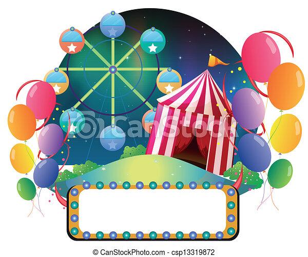 An amusement park - csp13319872