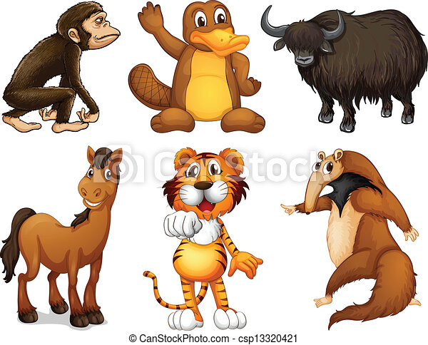 Six different kinds of four-legged animals - csp13320421